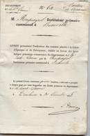 Toulouse,Caraman, Beauville,1838, Livret épargne , Rouquayrol, Instituteur; Caragoudes, Cambiac - 1800 – 1899