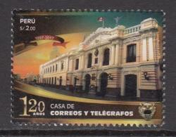 2017 Peru Telegraph House Architecture Complete Set Of 1 MNH - Peru