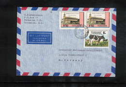 Tanzania Interesting Airmail Letter To Germany - Tanzania (1964-...)