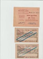 BON MATIERE  -  LOT De 3 Bons ( Bois De Chauffage  Pour Un Stére  , Pour 2 Stéres ) Periode 1944 /1945  - Rationnement - Buoni & Necessità