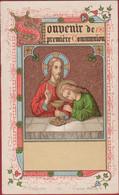 Robert Verlinden Communieprentje 1886 Heilige Communie First Communion Premiere Gouddruk Litho Bruges St Augustin - Images Religieuses