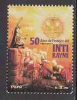 2017 Peru Festival Culture Inti Raymi Inca Complete Set Of 1 MNH - Peru