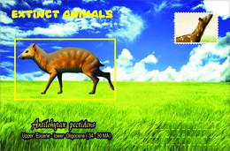 Vignettes De Fantaisie, Extinct Animals , Hyracoidea, Antilohyrax Pectidens - Fantasy Labels