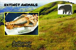 Vignettes De Fantaisie, Extinct Animals , Hyracoidea, Megalohyrax Major - Fantasy Labels