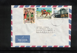 Zaire Interesting Airmail Letter To Germany - Other