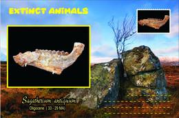 Vignettes De Fantaisie, Extinct Animals , Hyracoidea, Sagatherium Antiquum - Fantasy Labels