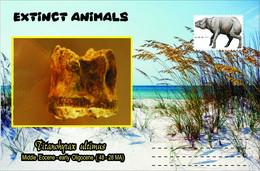 Vignettes De Fantaisie, Extinct Animals , Hyracoidea, Titanohyrax Ultimus - Fantasy Labels