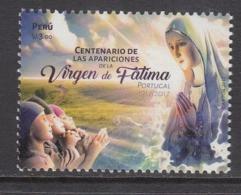 2017 Peru Virgin Of Fatima Portugal Complete Set Of 1 MNH - Peru