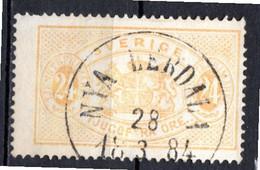 SUEDE - 1874-96 - Timbre De Service - N° 8A - 24 O. Jaune-orange - (Dentelé 13) - Gebraucht
