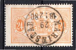 SUEDE - 1874-96 - Timbre De Service - N° 8B - 24 O. Jaune-orange - (Dentelé 14) - Gebraucht