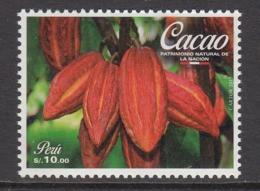 2017 Peru Cacao Chocolate Complete Set Of 1 MNH - Peru