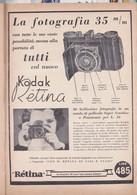 (pagine-pages)PUBBLICITA' KODAK RETINA   Le Vied'italia1935/07. - Other