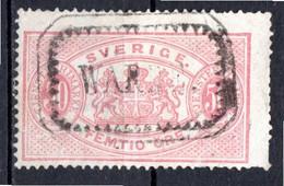 SUEDE - 1874-96 - Timbre De Service - N° 10B - 50 O. Rose Carminé - (Dentelé 14) - Gebraucht