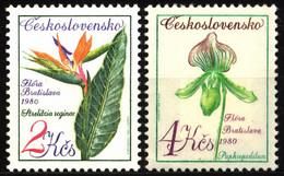 Czechoslovakia 1980 Mi 2576-2577 Flowers MH - Nuevos