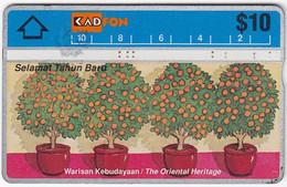 MALAYSIA B-017 Hologram KadFon - Painting, Plant, Tree - 306F - Used - Malaysia