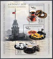 2020 Turkey Euromed: Traditional Gastronomy Minisheet (** / MNH / UMM) - Food