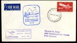 Australia - First Flight Lufthansa Sydney-Frankfurt - Primi Voli