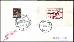 Great-Britain - Cover To Berlin, Germany - Last Day  Postal Strike 1971 - Briefe U. Dokumente