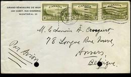 Canada - Cover To Antwerp, Belgium - Grand Séminaire De Montréal - Cartas