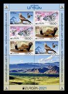 Armenia (Nagorno-Karabakh) 2021 Mih. 231/33 Europa. Fauna. National Endangered Wildlife. Birds. Butterflies (M/S) MNH ** - Armenia