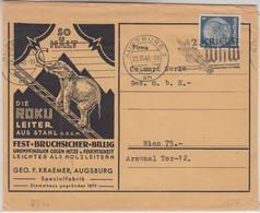 DR - Augsburg 1940 Illustr. Firmenkuvert Drucksache N. Wien - Zonder Classificatie
