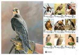 Ukraine 2020, Fauna, Predator Birds, Falconry, Sheetlet Of 9v - Ukraine