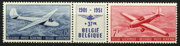 België PA26/27 ** - Drieluik - Triptyque - Zweefvlieger - Planeurs - Luchtpost