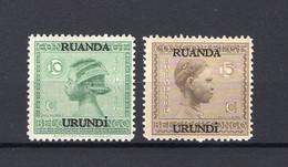 Ruanda-Urundi 79/80 - MH - 1924-44: Mint/hinged