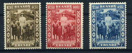 Ruanda-Urundi - 108/10 - MNH - 1924-44: Mint/hinged
