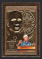 Komoren 1991 - Mi-Nr. 972 A ** - MNH - Gold - Charles De Gaulle - Comoros