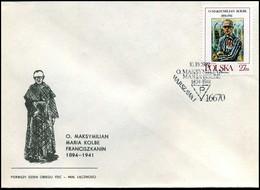 Polen - FDC -  O. Maksymilian Maria Kolbe Franciszkanin - FDC