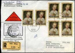 Österreich - Cover To Brasschaat, Belgium, Registered, Douane, Remboursement - 1971-80 Storia Postale