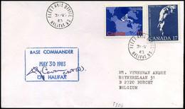 Canada - Cover To Burcht, Belgium -- CFS Halifax - Cartas