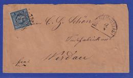 Bayern 6 Kreuzer Mi.-Nr. 10 Mit OMR 68 Auf Brief Von Burgkundstadt Nach Werdau - Bavaria