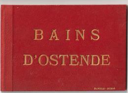 Petit Album De 12 Lithogravures Sur Les Bains D'Ostende (Belgique) Circa 1880   Très Bon état   Ed Daniel Dubar - Dépliants Touristiques
