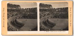 Stereo-Foto Fotograf Unbekannt, Ansicht Rom, Blick In Das Kolosseum - Stereoscopic