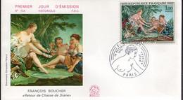 """France - FDC -  François Boucher """"Retour De Chasse De Diane"""" - 1960-1969"""