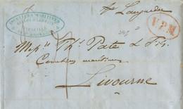 1851 MARSEILLE Bf M. Stpl.V.P.M.n. Livorno - 1849-1876: Periodo Classico