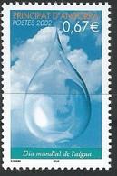 Andorre Français - Y&T N° 568 ** -  2002 - Journée Mondiale De L'Eau - Nuevos
