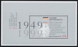 Block 48 Jubiläum 50 Jahre Grundgesetz 1999, Postfrisch - Ohne Zuordnung