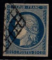 France 1850 Yv. 4 Oblitéré 100% Cérès, 25 C - 1849-1850 Ceres