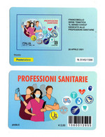 ITALIA : Tessera Fil. Professioni Sanitarie  - Tiratura  1500 Pz.  Del  28.04.2021 - Tarjetas Filatélicas