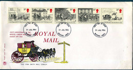 UK - FDC - 200th Anniversary Of The Bristol-London Mail Coach - 1981-1990 Dezimalausgaben