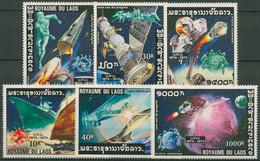 Laos 1975 100 Jahre UPU: Postwesen, Raumfahrt 405/10 A Postfrisch - Laos