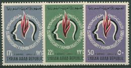 Syrien 1963 Verkündung Der Menschenrechte 851/53 Postfrisch - Syria