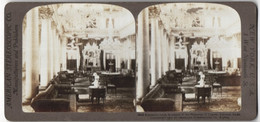 Stereo-Fotografie American Stereoscopic Co., New York, Ansicht Calcutta, Empfangssaal Des Maharajah Von Tagore - Stereoscopic