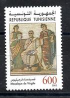 2002 - Tunisia - Archaelogical Sites And Monuments- Architecture -  Virgil Mosaic - Set 1v.MNH** - Archéologie