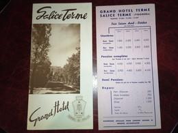 Salice Terme Grand Hôtel ( Italie, Voghera) / Dépliant Touristique - Dépliants Touristiques