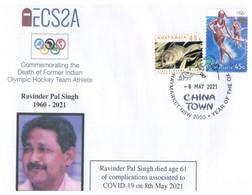 (PP 26) (Australia) COVID-19 Pandemic Related Death - Olympic India Ravinder Pal Singh - Hockey Team (8-5-2021) - Disease