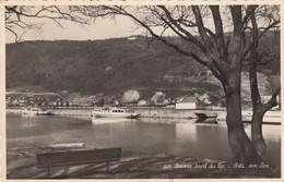 ZWITZERLAND-SCHWEIZ-SUISSE-SVIZZERA.-BIEL-BIENNE-BORD DU LAC-CARTOLINA VERA PHOTO-VIGGIATA  IL 7-9-1957 - BE Berne